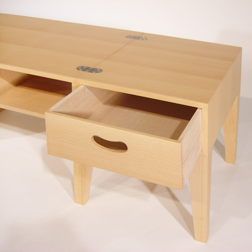 Genial Abode TABLEu003dCHEST (storing With Table / Drawer) [aboard Tomoko Azumi Azumi