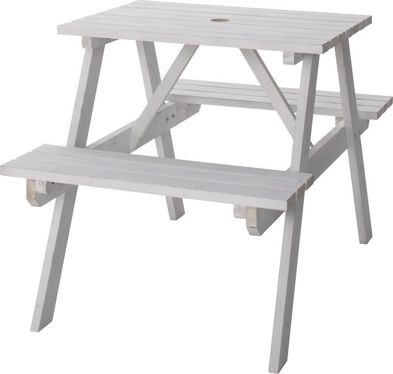 【エントリーで5倍】AZUMAYA(東谷) テーブル&ベンチ W75 ODS-91WH おしゃれ かわいい