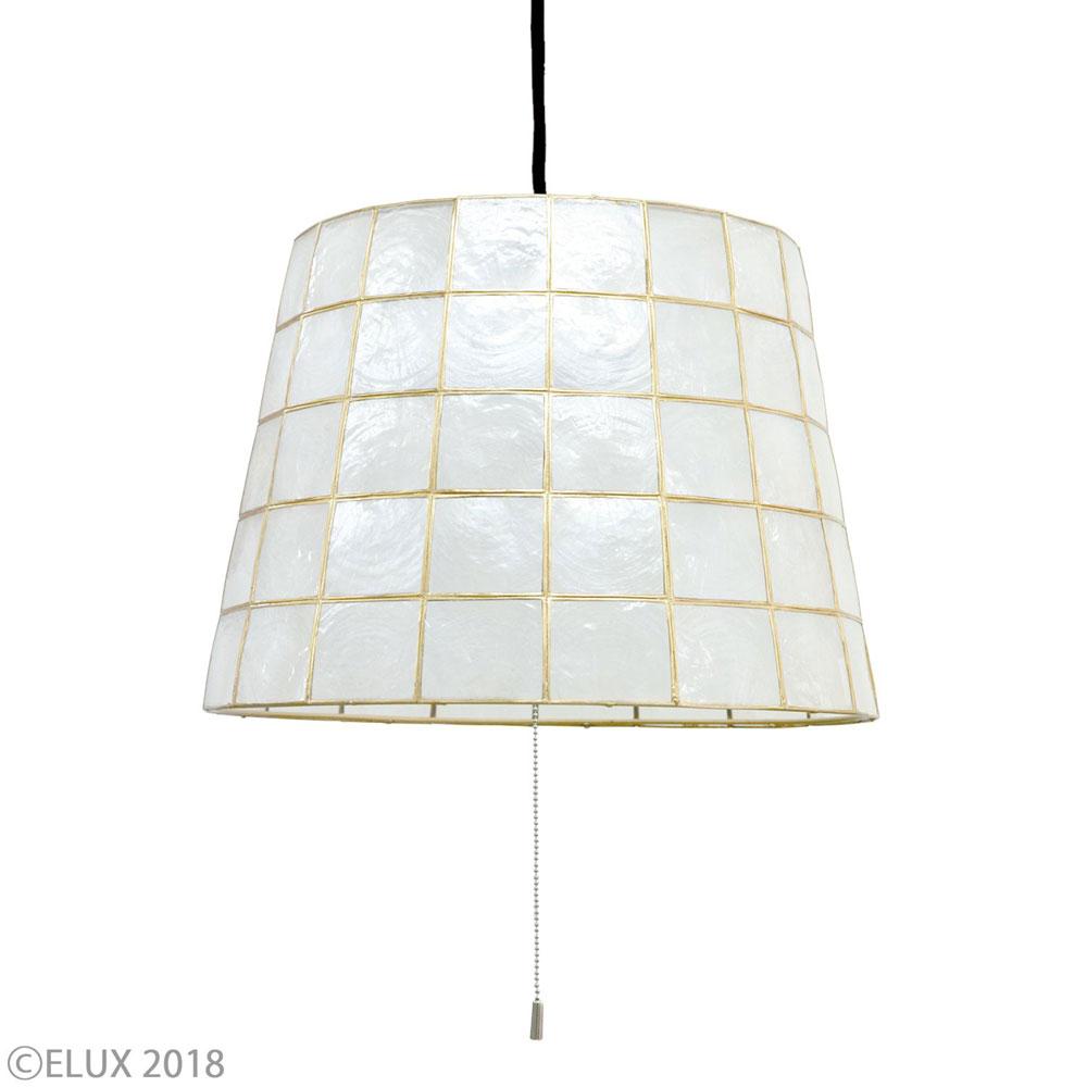 【エントリーで5倍】Lu Cerca(ルチェルカ) ペンダントライト Roxas(ロハス) ホワイト(ブラックコード) LC10750-BK おしゃれ かわいい 照明器具 シーリングライト ライト ランプ 北欧デザイン 北欧スタイル モダン シンプル 間接照明 天井照明