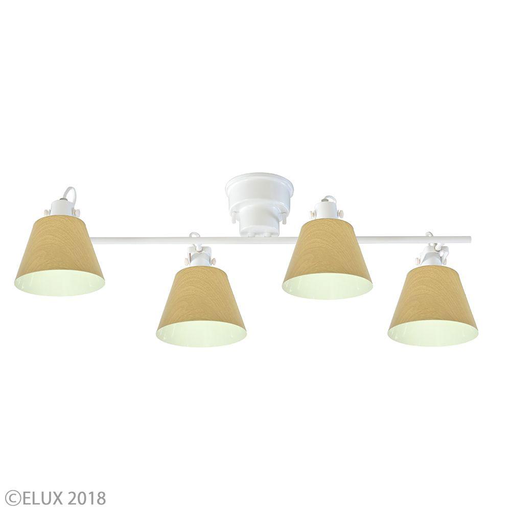 【700円クーポン対象】LuCerca シーリングライト FLAGS フラッグス 4灯シーリングライト (ホワイト×ナチュラルウッド) LC10930-NW おしゃれ かわいい 照明器具 シーリングライト ライト ランプ 北欧デザイン 北欧スタイル モダン シンプル 間接照明 天井照明 誕生日 結婚