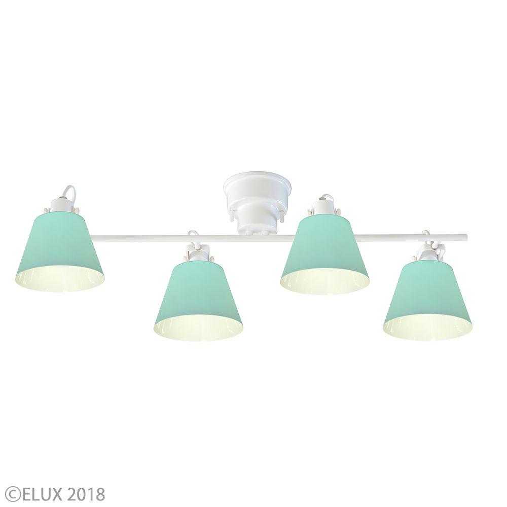 LuCerca シーリングライト FLAGS +Quito フラッグス 4灯シーリングライト (ホワイト×ライトグリーン) LC10930-QT-LG 父の日 プレゼント 父の日ギフト おしゃれ かわいい 照明器具 シーリングライト ライト ランプ 北欧デザイン 北欧スタイル モダン シンプル 間接照明 天