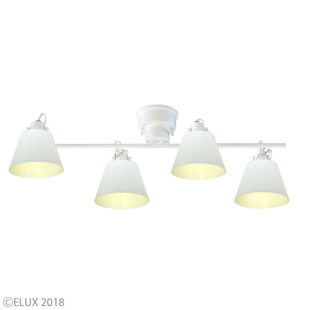 【エントリーで5倍】LuCerca シーリングライト FLAGS +Quito フラッグス 4灯シーリングライト (ホワイト×ホワイト) LC10930-QT-WH おしゃれ かわいい 照明器具 シーリングライト ライト ランプ 北欧デザイン 北欧スタイル モダン シンプル 間接照明 天井照明