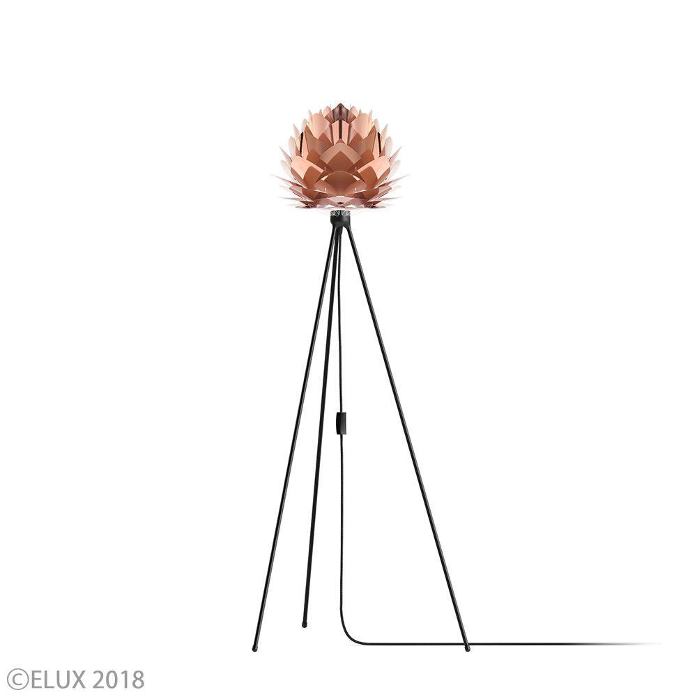 UMAGE(ウメイ) Silvia mini コパー (Tripod Floor/ブラック) フロアライト 02031-TF-BK 就職祝い 卒業祝い おしゃれ かわいい VITA ヴィータ デンマーク 照明器具 シーリングライト ライト ランプ 北欧 モダン シンプル 間接照明 天井照明 誕生日 結婚祝い 出産祝い 引越