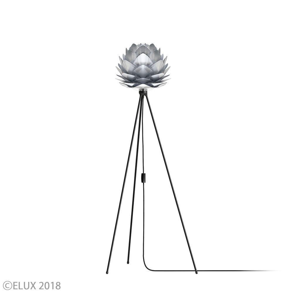 UMAGE(ウメイ) Silvia mini スチール (Tripod Floor/ブラック) フロアライト 02054-TF-BK 就職祝い 卒業祝い おしゃれ かわいい VITA ヴィータ デンマーク 照明器具 シーリングライト ライト ランプ 北欧 モダン シンプル 間接照明 天井照明 誕生日 結婚祝い 出産祝い 引