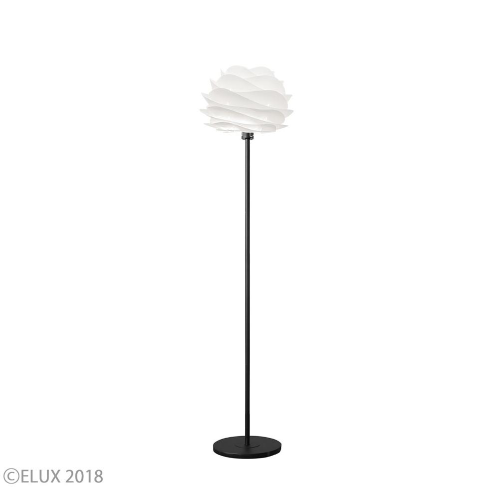 UMAGE(ウメイ) Carmina mini フロア ホワイト(ブラックベース) フロアライト 02057-FL-BK 就職祝い 卒業祝い おしゃれ かわいい VITA ヴィータ デンマーク 照明器具 シーリングライト ライト ランプ 北欧 モダン シンプル 間接照明 天井照明 誕生日 結婚祝い 出産祝い