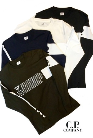 【2020SS◇NEW】C.P.COMPANY Jersey 30/1 LS Graphic Crew T-shirt 08CMTS171A◆送料無料◆