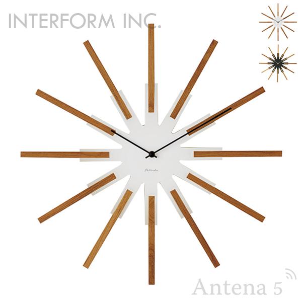 ★《全2色》INTERFORM 掛け時計 Sirio シリオ クロック 【インターフォルム 掛時計 壁時計 デザイン雑貨 ウォールクロック お祝い 北欧 インテリア】