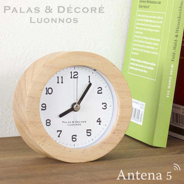 【ポイント10倍・送料無料】無垢の天然木で作っためざまし時計 《全2色》PalaDec Eina ウッドアラームクロック 【パラデック アイナ デザイン雑貨 ギフト 置時計 置き時計 目覚まし時計 北欧 アラーム時計】