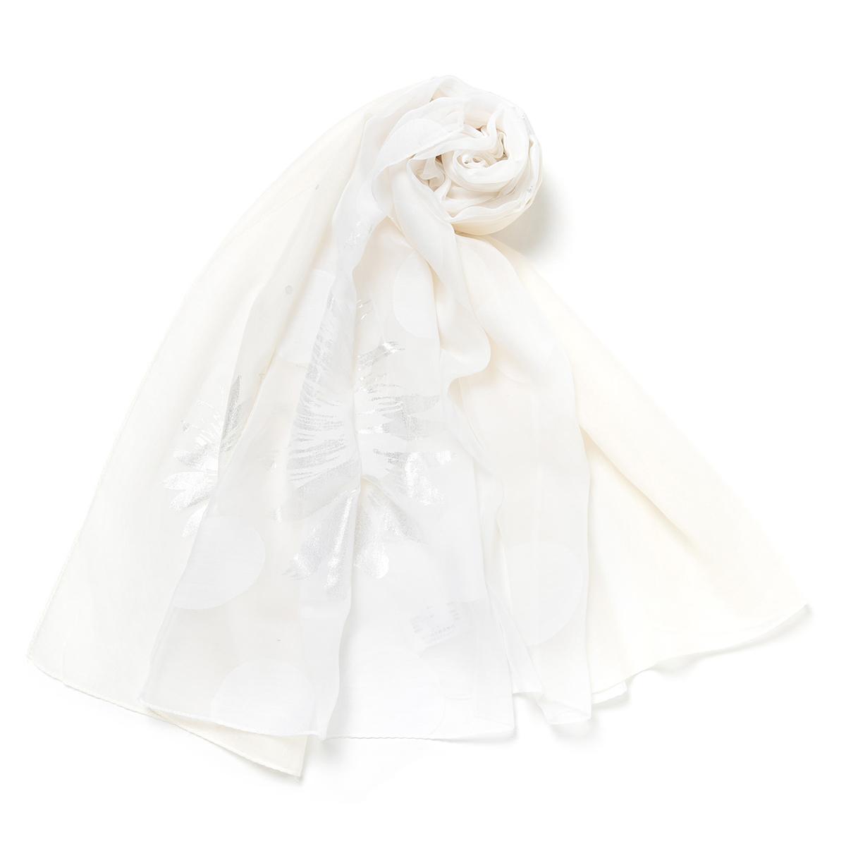 【ANTEPRIMA公式】アンテプリマ/オパール箔プリントストール/オフホワイト/ANTEPRIMA/E2AN632200/OFF WHITE