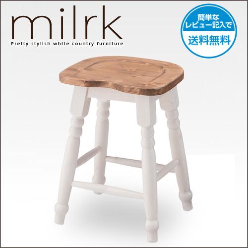 【送料込】 スツール 2脚セット Milrk ミルーク | 【代引不可】 チェア 北欧 木製 天然木 パイン材 ダイニングチェアー ダイニングチェア チェアー 食卓椅子 イス 椅子 モダン 白 ホワイト アンティーク風 ラグジュアリー 完成品 おしゃれ 送料無料 セール