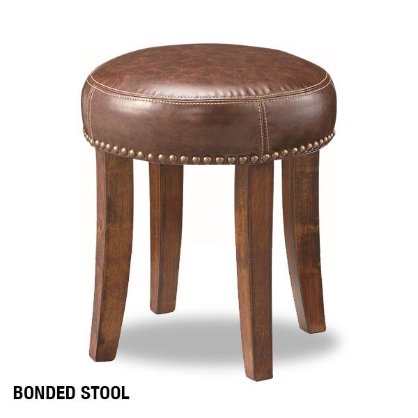 【送料込】 ボンテッドスツール ヴィンテージ風 アンティーク風 椅子 いす チェア チェアー 天然木 おしゃれ 人気 シンプル かわいい コンパクト カフェ風 レトロ インテリア 送料無料