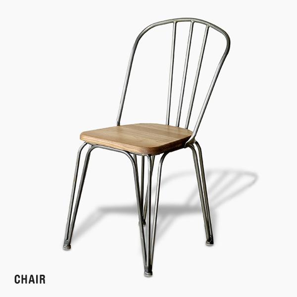 アンティーク風 ダイニングチェア インダストリアル風 スチール脚 木製 椅子 背もたれ いす チェアー 北欧風 ヴィンテージ風 西海岸風 レトロ カフェ風 デザイナーズ風 シンプル コンパクト おしゃれ 人気 かわいい