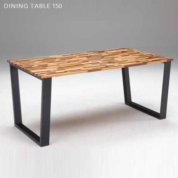 【送料込】 アンティーク風 ダイニングテーブル 150 モザイク風 木製 北欧風 150cm 食卓テーブル 長方形 レトロ 個性的 コーヒーテーブル カフェテーブル モダン かわいい おしゃれ gkw