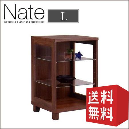 シェルフ 50L 2段 Nate ネイト | 棚 ラック 幅50 ディスプレイ 木製 ウッド 木 ガラス レトロ 北欧 送料無料 おしゃれ