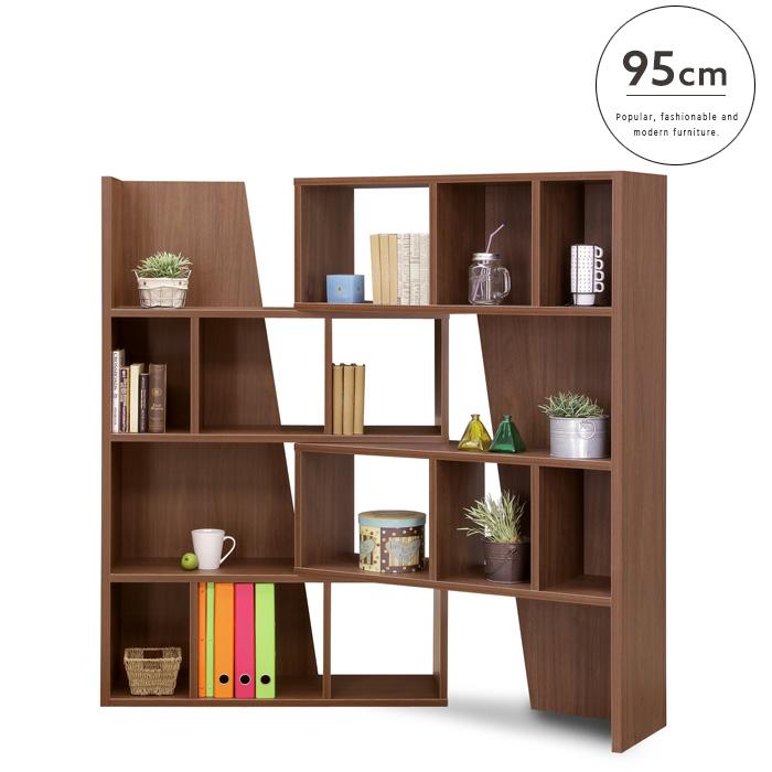 【送料込】 【設置代無料】スライドシェルフ 95 Woods ウッズ 国産 スライド式  本 本棚 棚 小物置き 収納 便利 幅95 シンプル ブラウン スライド 人気 おしゃれ