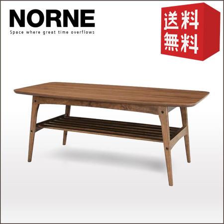 【送料込】コーヒーテーブル (L) Norne ノルン | 【代引不可】 ローテーブル センターテーブル リビングテーブル 一人暮らし オシャレ 送料無料 木製テーブル 木製 北欧 ウォールナット レトロ アンティーク セール