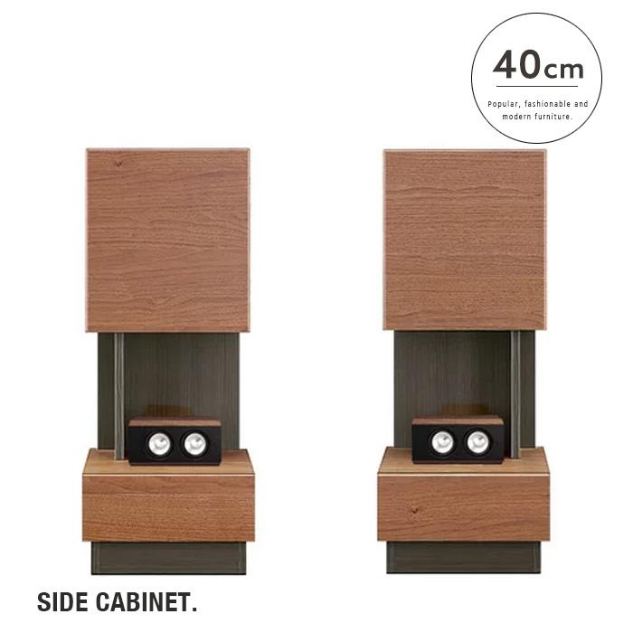 サイドキャビネット Netero ネテロ 40 |右 左 サイド テレビ台 国産 物置 TVボード ウォールナット おしゃれ 木製 モダン シンプル スタイリッシュ クール 人気 送料無料
