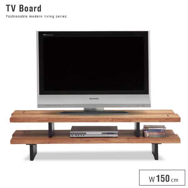 【送料込】 北欧風テレビボード 150 水郷 すいごう 無垢 木製 TV ローボード 収納 便利 アンティーク風 幅152 152 レトロ シンプル 人気 家具 おしゃれ gkw