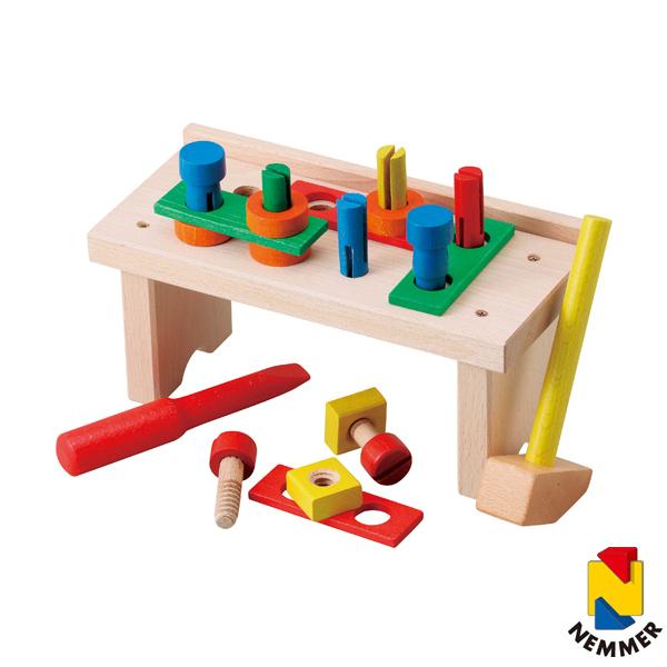 送料無料 ネマー 木製玩具セット(パズルボックス・工具) ※包装のしメッセージカード無料対応