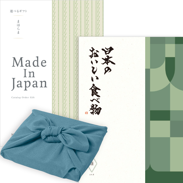 送料無料|<風呂敷包み>まほらまメイドインジャパンwith日本のおいしい食べ物<NP14with蓬+風呂敷(あじさい)>|※あす楽(翌日配送)はカード限定※包装のしメッセージカード無料対応