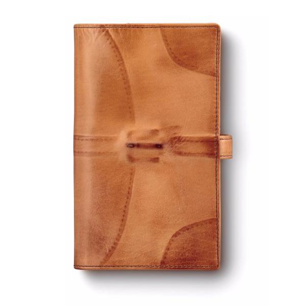 送料無料|ミハラヤスヒロ / あぶり出し手帳カバー(キャメル)|※包装のしメッセージカード無料対応
