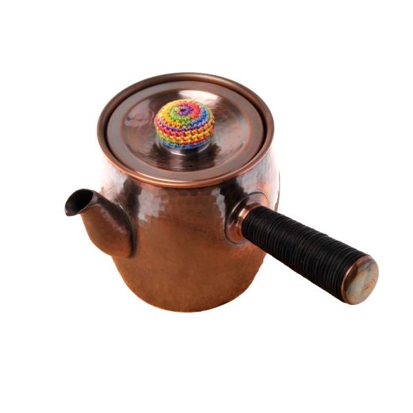 送料無料|銅製タル型急須(丸つち目/レインボー)|※包装のしメッセージカード無料対応