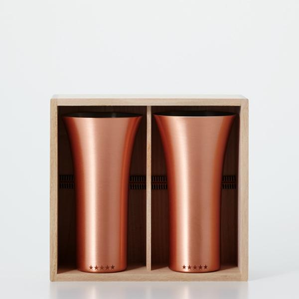 送料無料|WDH / 純銅製タンブラー2個セット マット