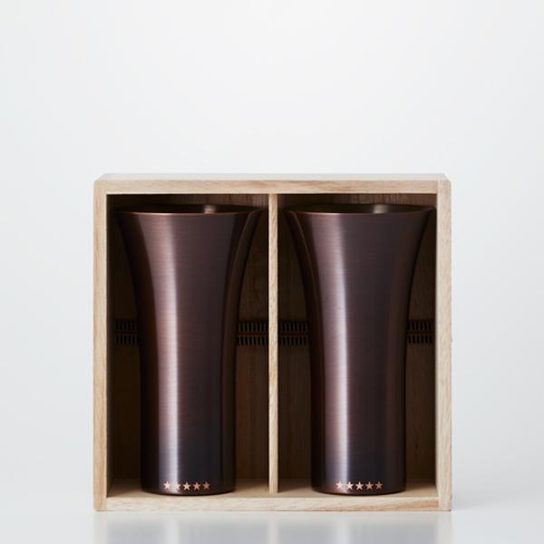 送料無料|WDH / 純銅製タンブラー2個セット ブラウン