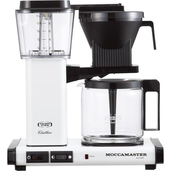 送料無料|MOCCAMASTER / コーヒーメーカー(メタリックホワイト)|※包装のしメッセージカード無料対応