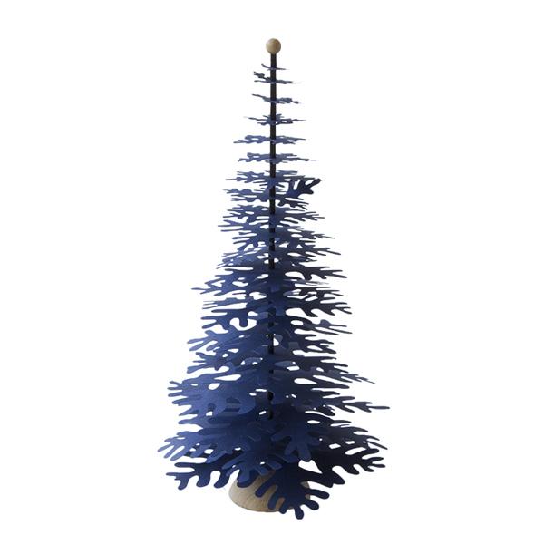 デンマークのイラストレーターであり 紙のアーティスト 初回限定 テレサ ジェシング によってデザインされた モミの木スタンドの手作りkit 送料無料 ファブラスグース Nordicモミの木スタンドKitブルーL ハイクオリティ