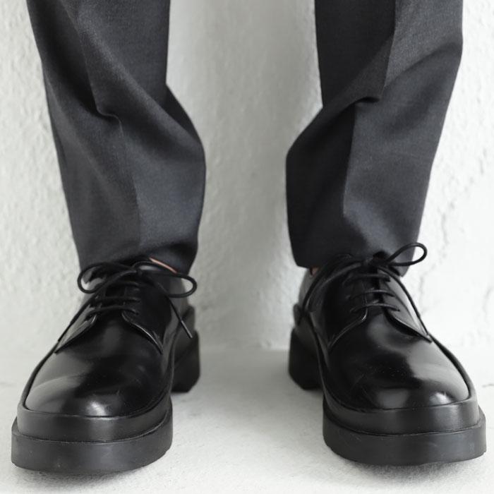 本革。上品でしなやか、オンオフ問わず履ける革靴。プレーントゥシューズ・再再販。「G」##×メール便不可!