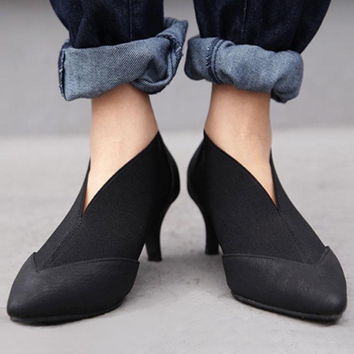 靴 シューズ パンプス レディース S M L LL ローヒール 歩きやすい 痛くない ヒール 日本正規品 再販 結婚式 二次会 送料無料 大人のための美脚パンプス パーティー 楽 ゴア メール便不可 ゴアパンプス 高級な