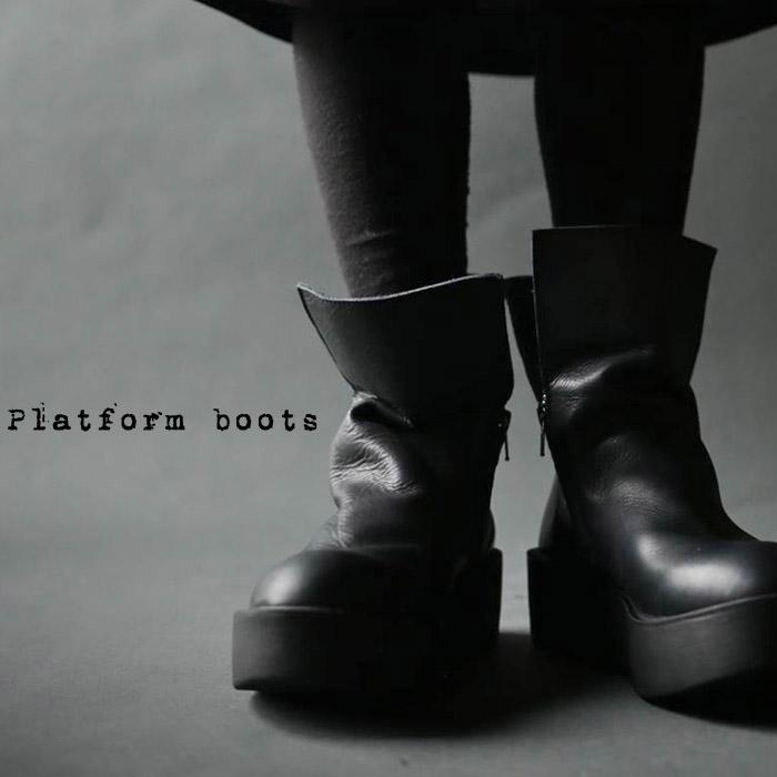 日本製。厚底本革デザインブーツ・10月17日20時~再販。本革ならではの魅力。##