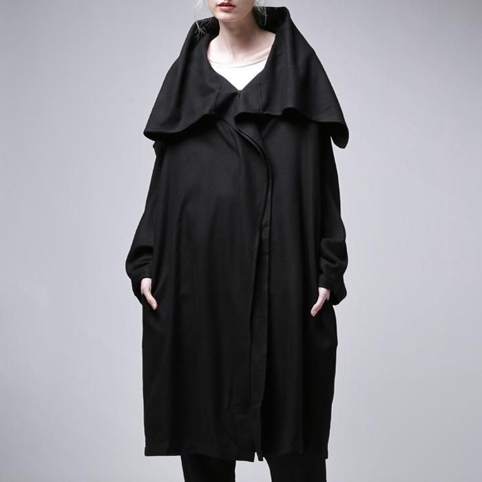 着こなしに厚みを持たせる、極上ウールの風合い。モード羽織りコート・20時~再再販。「G」##×メール便不可!