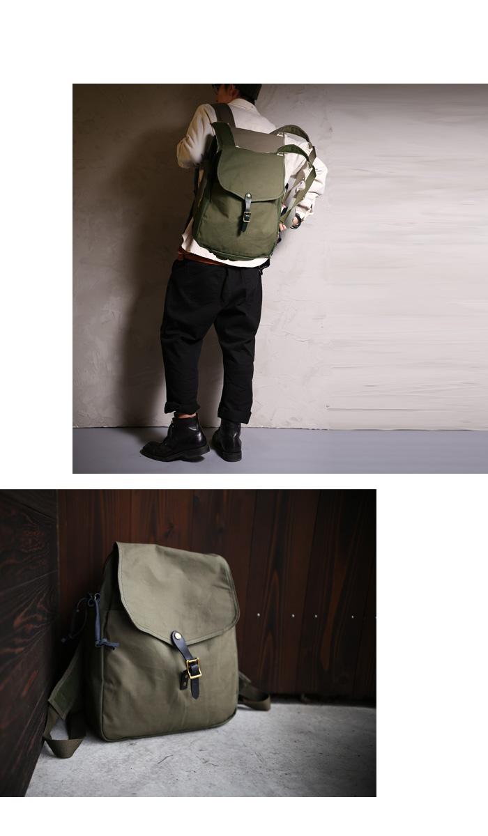 61b1f0d006f7 リュック 大容量 メンズ 大人 お洒落 シンプル スクエア ヴィンテージ デザイン バッグ antiqua アンティカ  キャンバスベルト使いがヴィンテージ感あって魅力的。