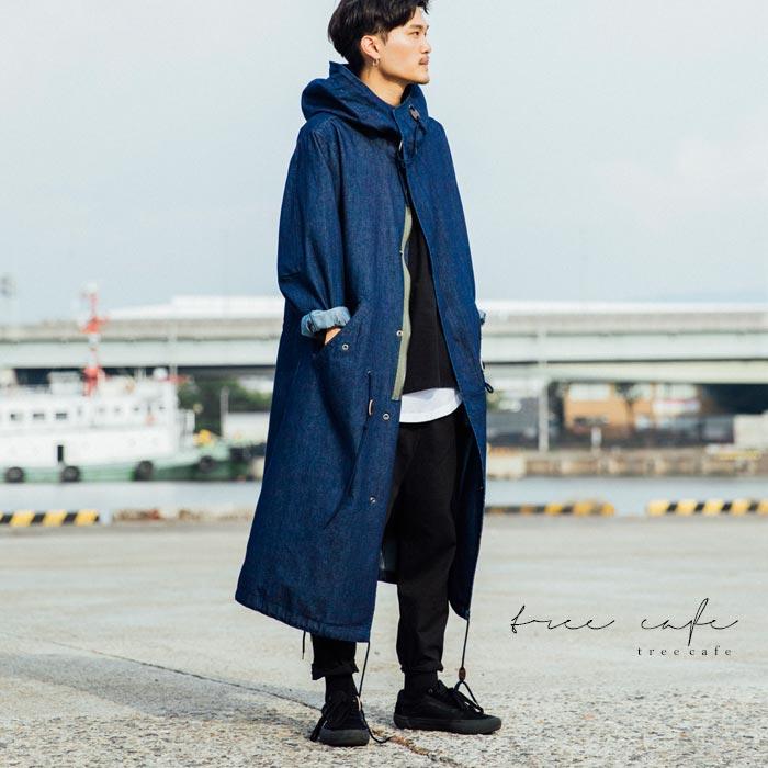 風合いの良さとデザイン、羽織るだけで印象を作り出す。デニムモッズコート・10月10日20時~再再販。##「G」