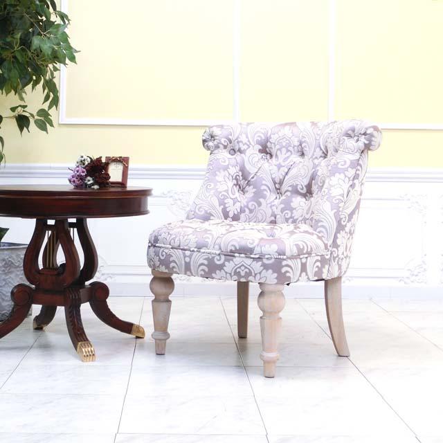 ラムズゲイト チェア コンパクト ソファー アンティーク かわいい おしゃれ 使いやすい ロビー レストラン ホテル 北欧 クラシック 花柄 フラワー ダマスク モロッコ セピアピンク aj1f68n