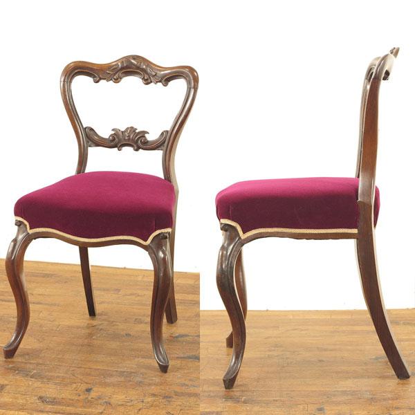 張替済チェア 上品な雰囲気 ローズウッド材 シングルチェア 1910年頃イギリスアンティーク家具 アンティークフレックス 55152