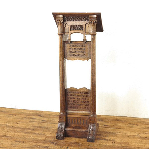 レクターン 聖書台 無垢材ならではの味わい 彫刻 イギリスアンティーク家具 アンティークフレックス 70004