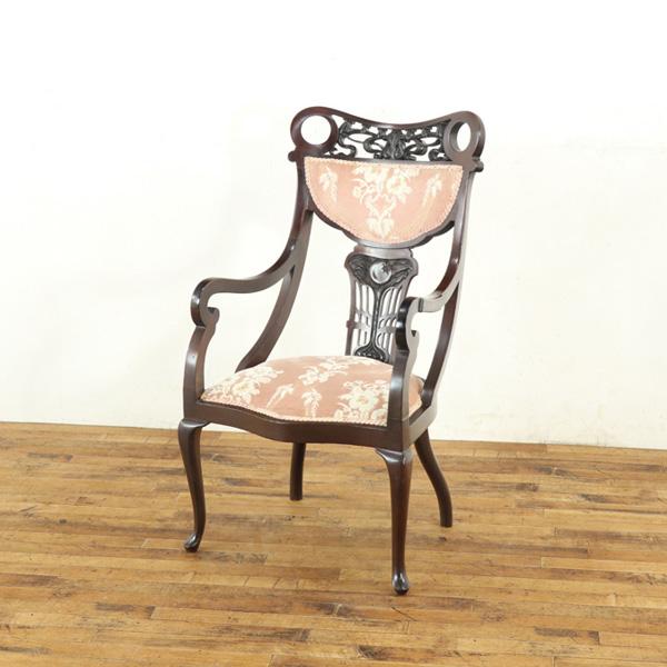 アンティーク家具 イギリス アームチェア アンティークチェア ヴィクトリアン 肘掛け椅子 パーソナルチェア イギリスアンティーク 54772b