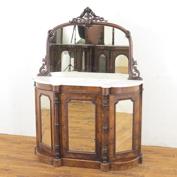 イギリス アンティーク家具 クレデンザ 1880年頃 ウォールナット材 英国アンティーク家具 アンティークキャビネット 55456