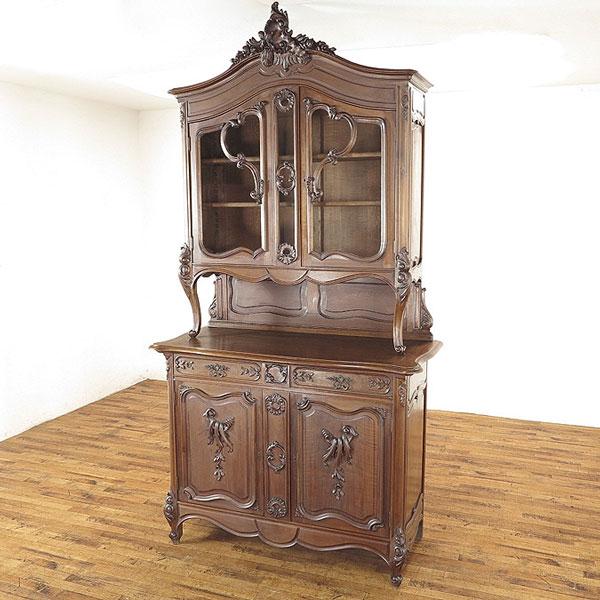 フランスアンティーク キャビネット 圧倒的な存在感 繊細で美しい彫刻 収納棚 飾り棚 アンティークフレックス 62803b
