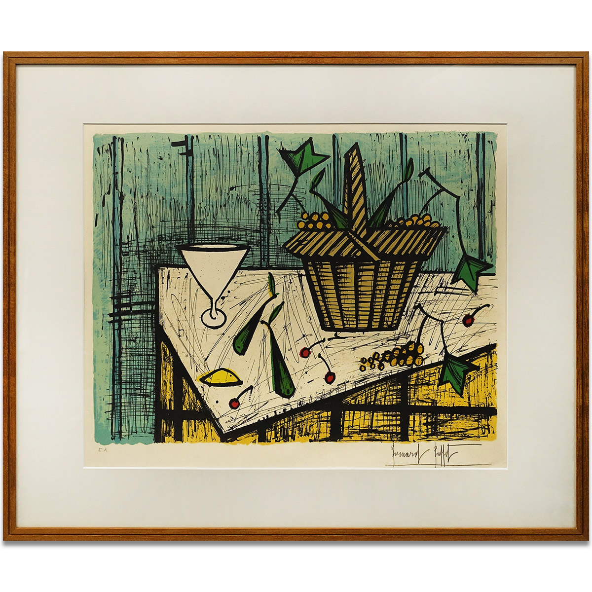 Miraculous 14Th 11 00 A M Sale End Last Reduction In Price Bernard Buffet Fruit Basket Still Life Picture Person Signature Fruit Basket Picture Print Download Free Architecture Designs Scobabritishbridgeorg