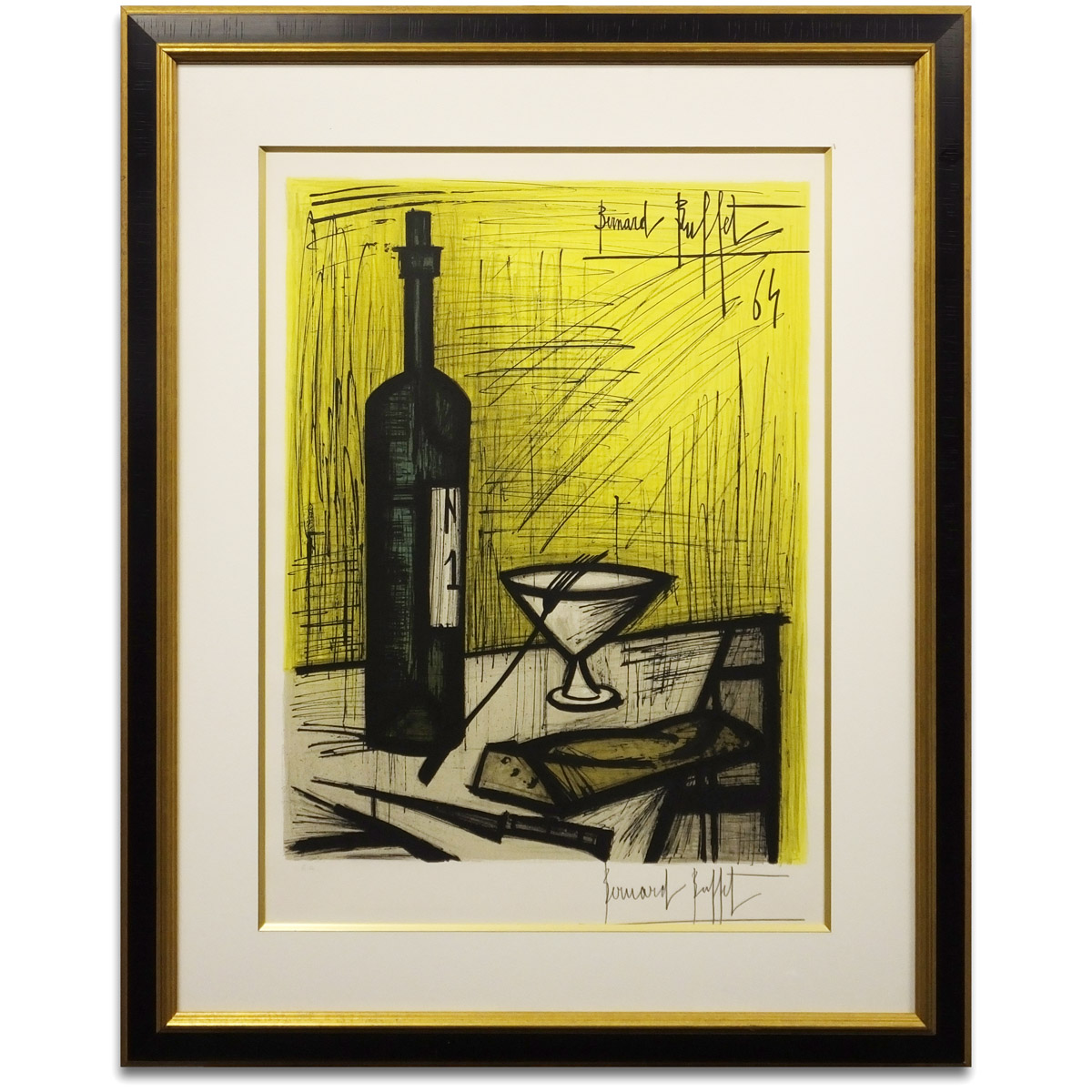 Awesome Reduction In Price Negotiability Article Bernard Buffet Bread And Wine Rie Sor Version Still Life Picture Pot Person Signature Picture Print Home Interior And Landscaping Ferensignezvosmurscom