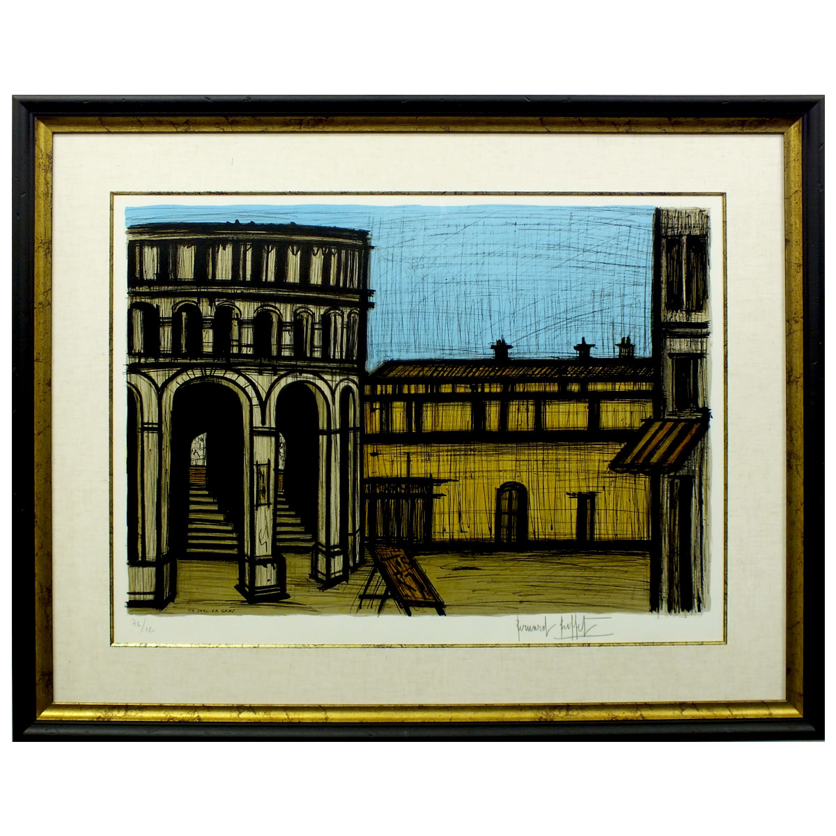 Astounding Reduction In Price Negotiability Article Bernard Buffet Circle Arena Than Carmen Amount Of Paysage Person Signature New Article Picture Print Home Interior And Landscaping Ferensignezvosmurscom