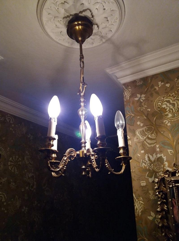 欧州アンティーク市場直輸入 アンティーク照明器具 シャンデリア #8701 5灯 アンティーク PSEマーク品 PL保険付き