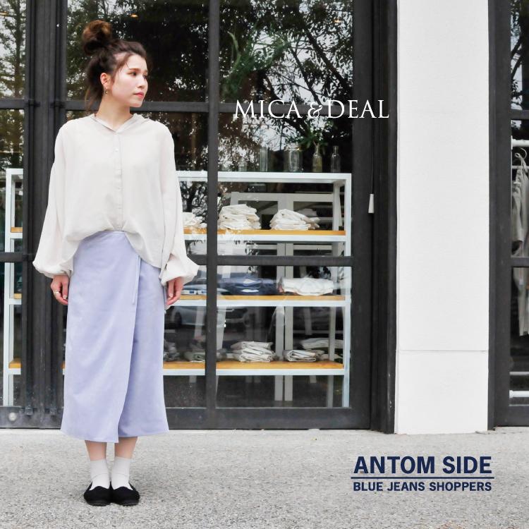 【MICA&DEAL/マイカアンドディール】suede wrap skirt