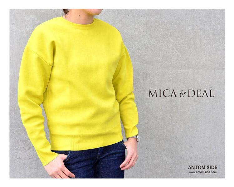【MICA & DEAL / マイカ&ディール】クルーネックニットプルオーバー(M18A011)