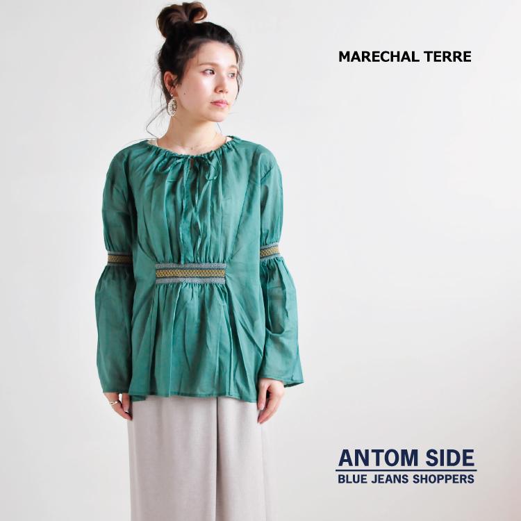 【MARECHAL TERRE/マルシャルテル】smocking blouse