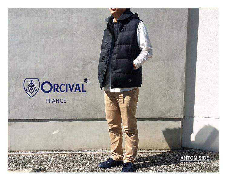 【ORCIVAL/オーチバル オーシバル】フランネルウール ダウンベスト(RC-8755FNN)